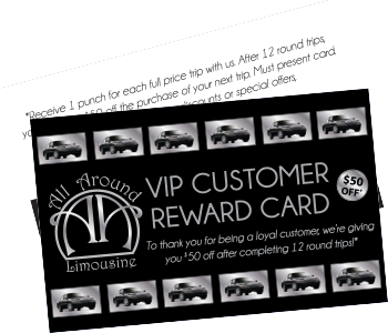 VIP customer reward card
