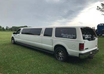 Ford Excursion limo side view